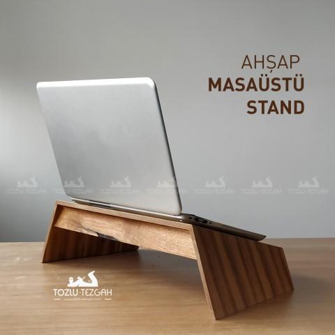 Ahşap Masaüstü Laptop - Kitap Standı
