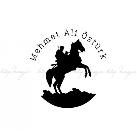 Atlı Savaşçı İsme Özel Kitap Damgası