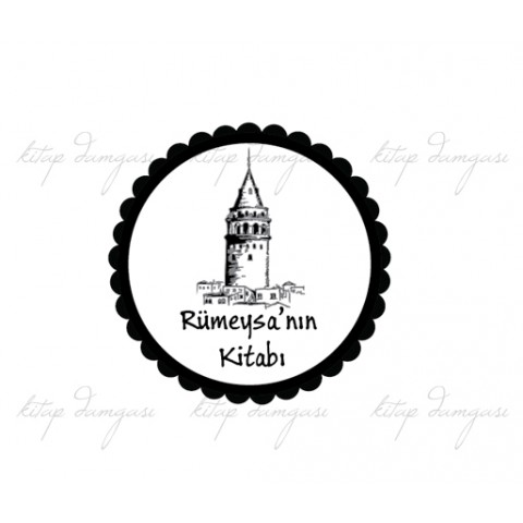 İstanbul Galata Kulesi - İsme Özel Damga