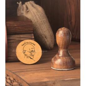Gandi Temalı Kitap Damgası