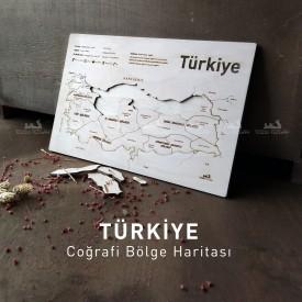 Ahşap Türkiye Cografi Bölge Haritası Puzzle